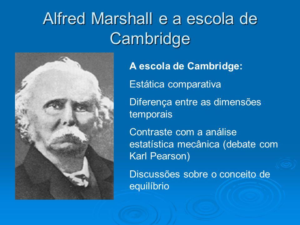 Alfred Marshall e a escola de Cambridge