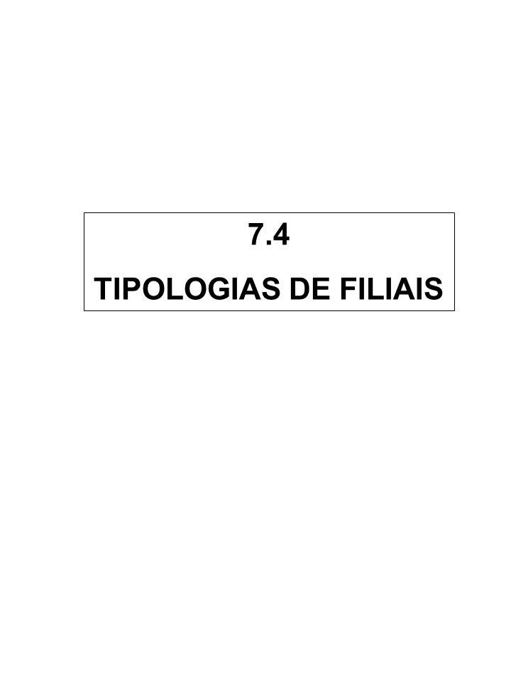 7.4 TIPOLOGIAS DE FILIAIS