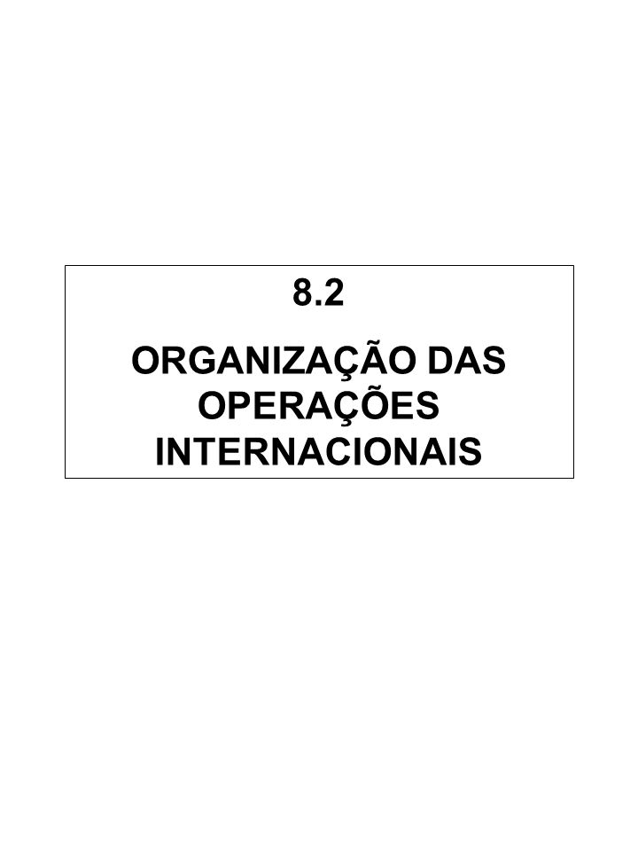 ORGANIZAÇÃO DAS OPERAÇÕES INTERNACIONAIS