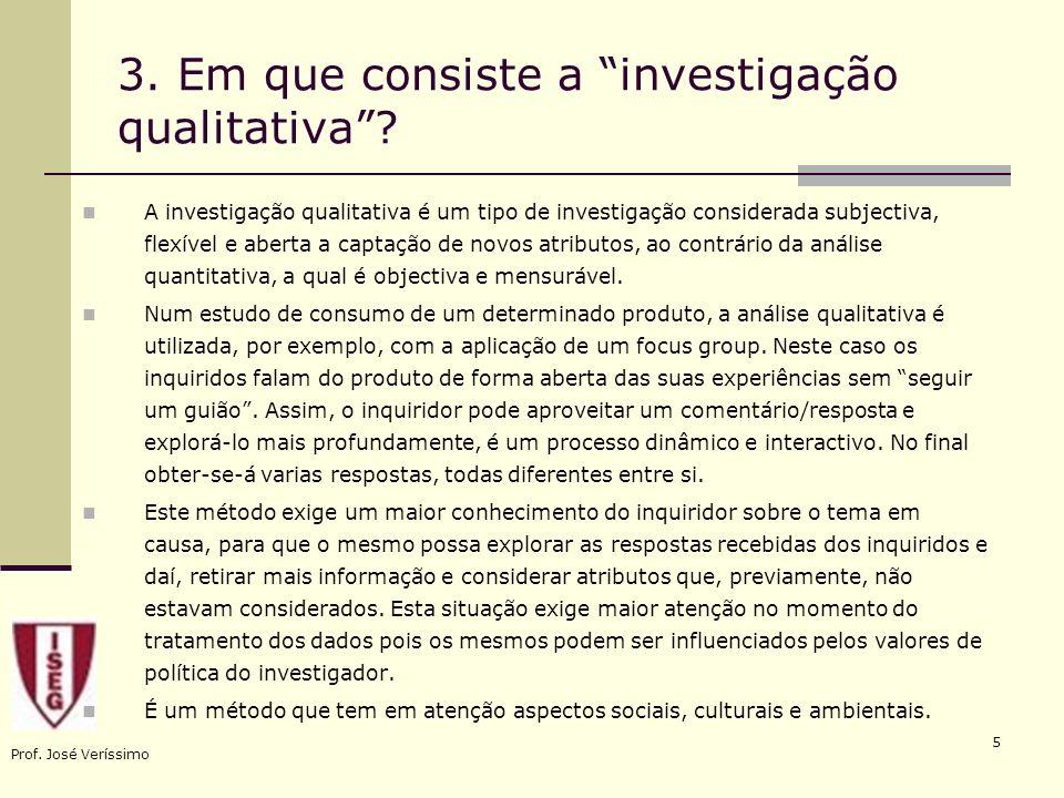 3. Em que consiste a investigação qualitativa