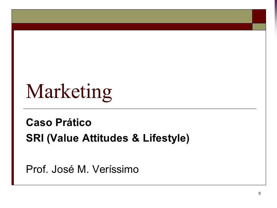 Caso Prático SRI (Value Attitudes & Lifestyle) Prof. José M. Veríssimo