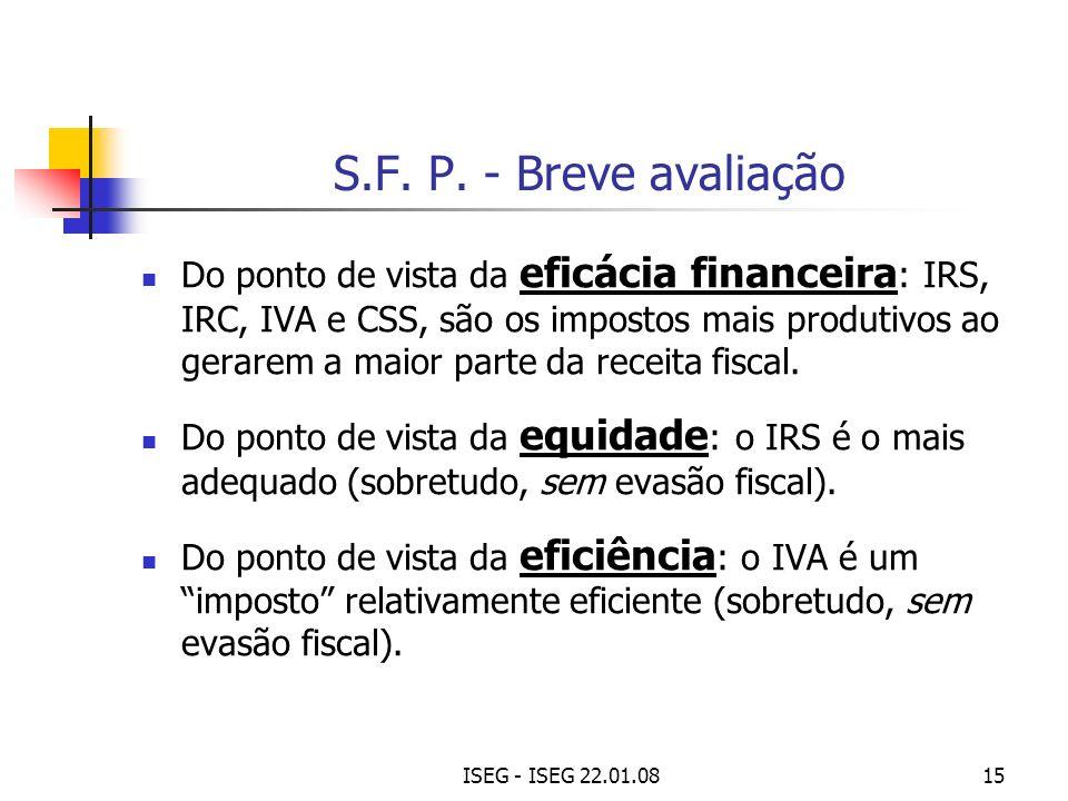 S.F. P. - Breve avaliação