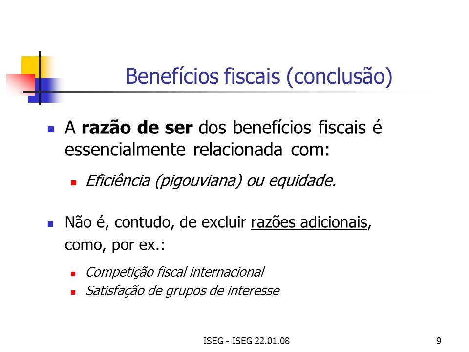 Benefícios fiscais (conclusão)
