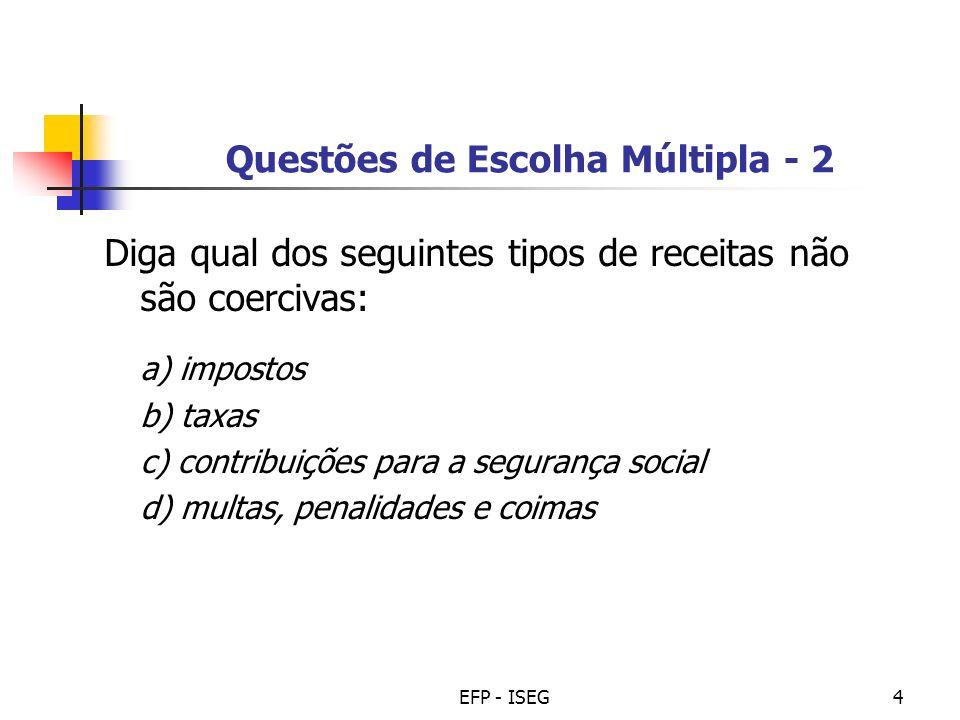 Questões de Escolha Múltipla - 2
