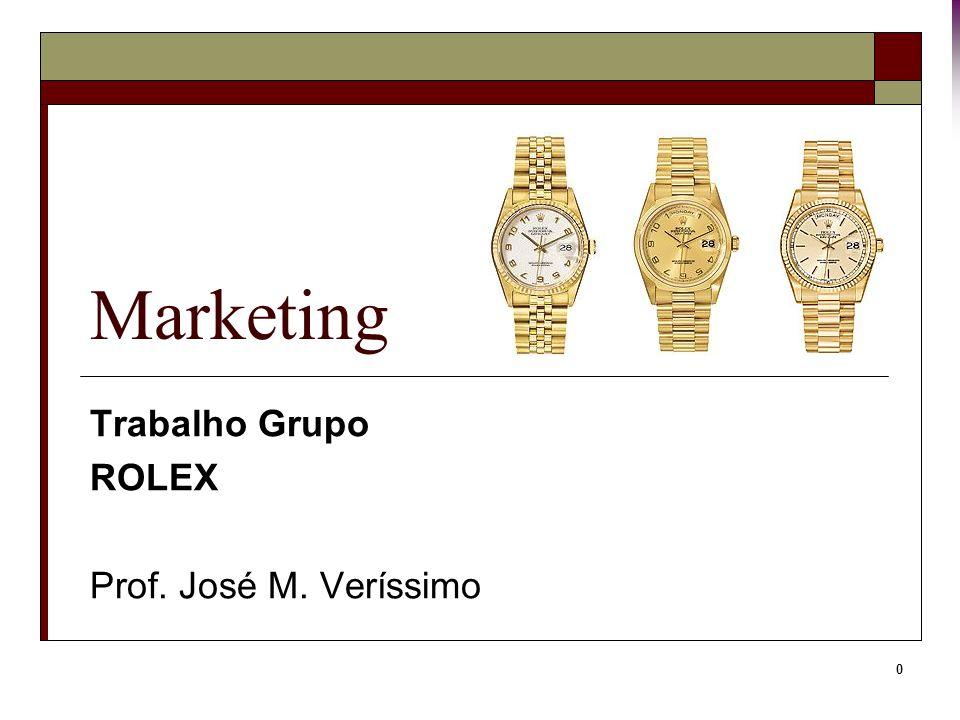 Trabalho Grupo ROLEX Prof. José M. Veríssimo