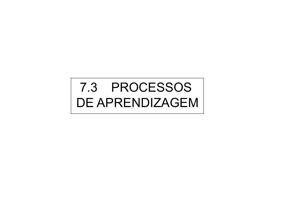 7.3 PROCESSOS DE APRENDIZAGEM