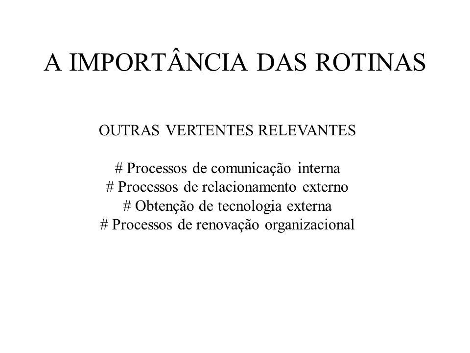 A IMPORTÂNCIA DAS ROTINAS
