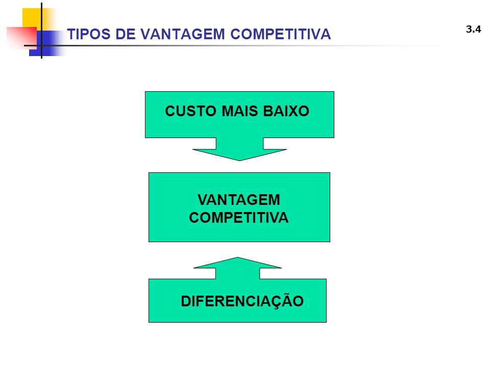 TIPOS DE VANTAGEM COMPETITIVA