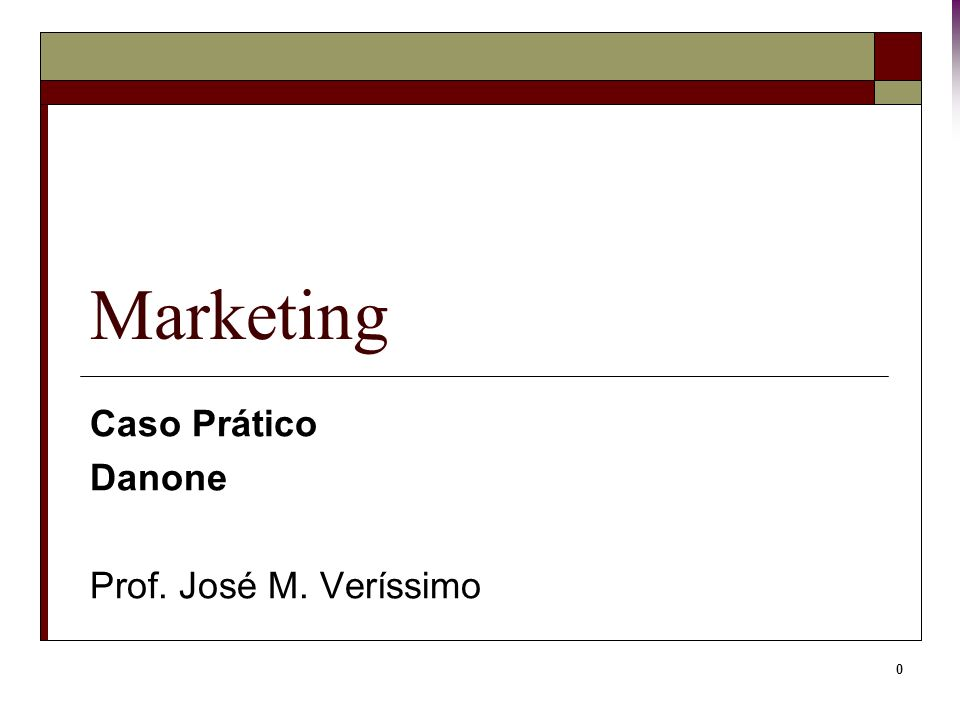 Caso Prático Danone Prof. José M. Veríssimo