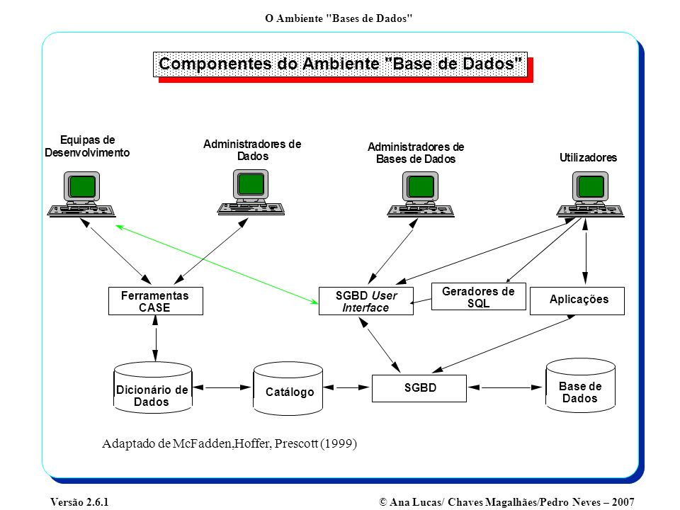 Componentes do Ambiente Base de Dados