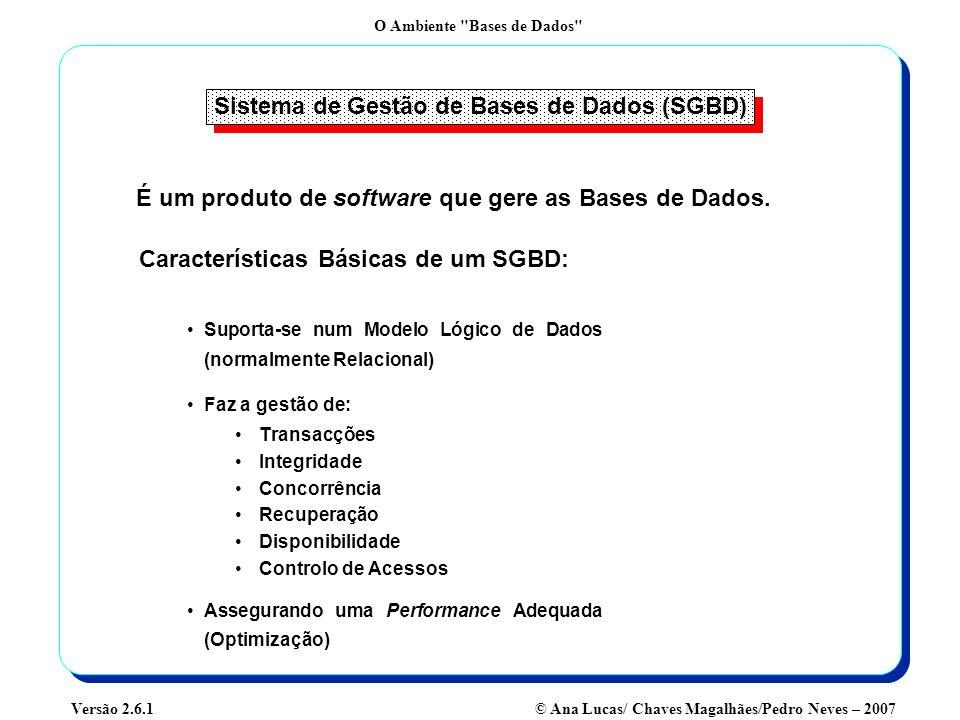 Sistema de Gestão de Bases de Dados (SGBD)