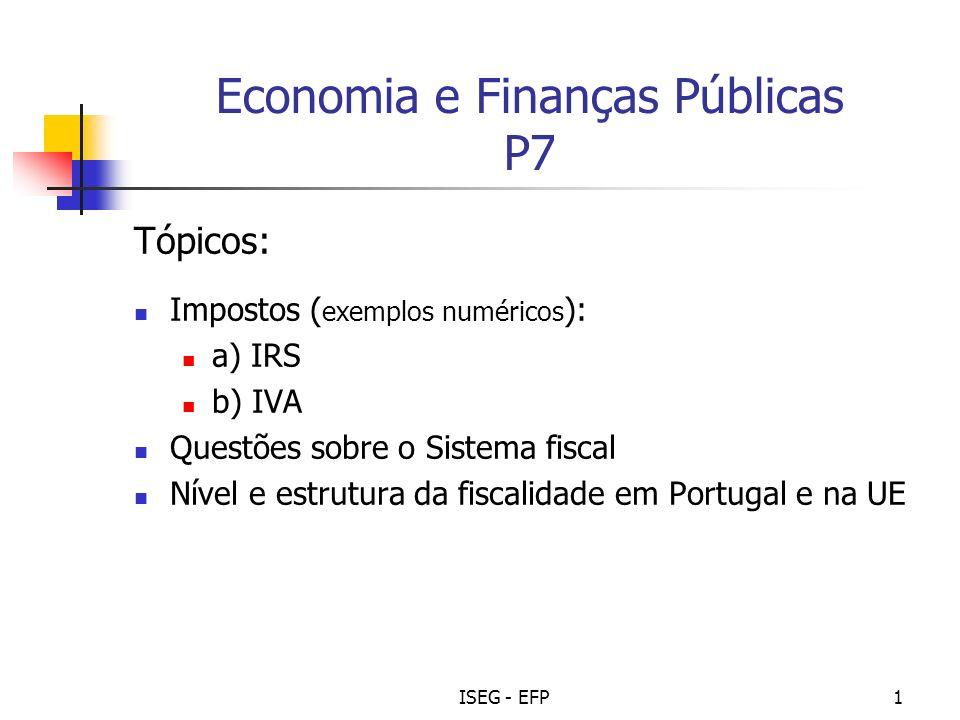 Economia e Finanças Públicas P7