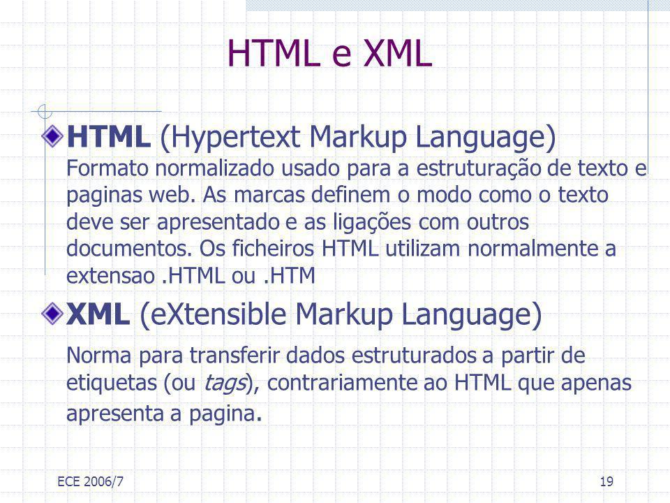 HTML e XML