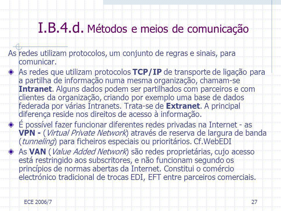 I.B.4.d. Métodos e meios de comunicação