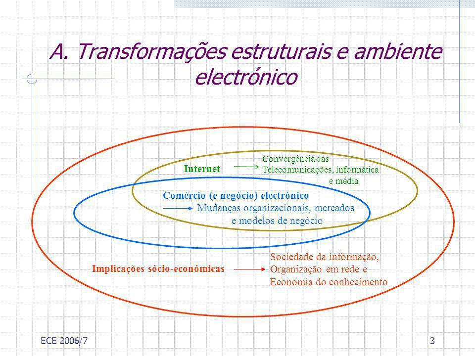 A. Transformações estruturais e ambiente electrónico
