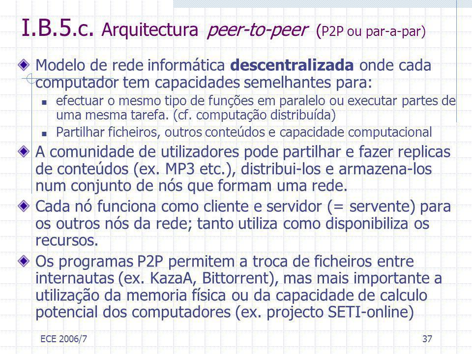 I.B.5.c. Arquitectura peer-to-peer (P2P ou par-a-par)