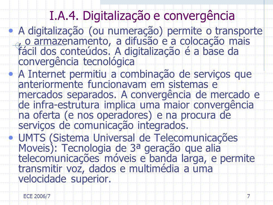 I.A.4. Digitalização e convergência