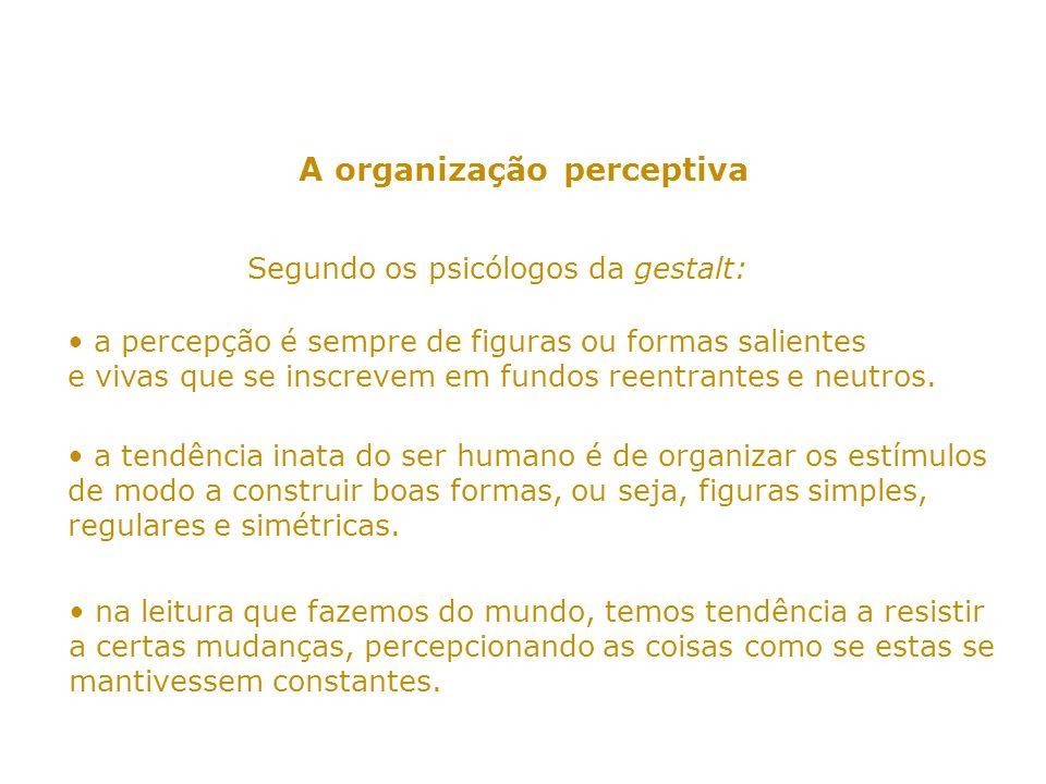 A organização perceptiva