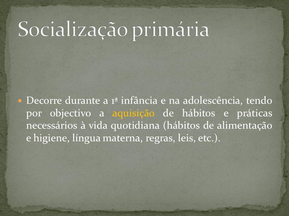 Socialização primária