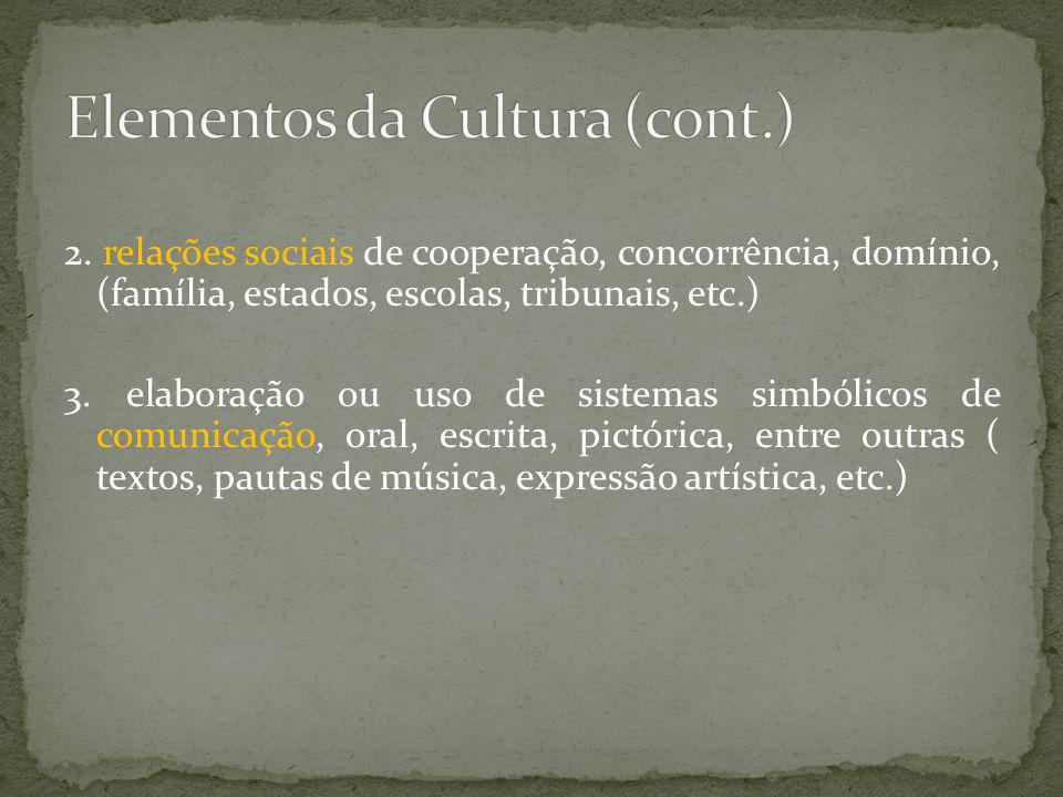 Elementos da Cultura (cont.)