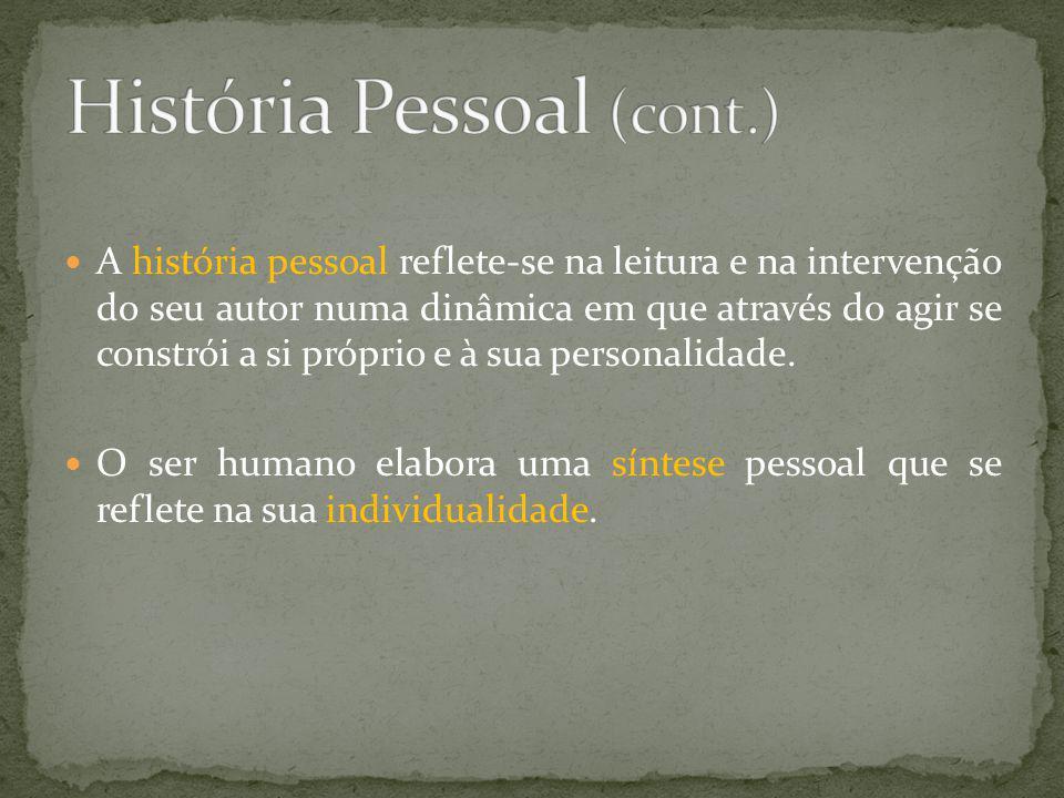 História Pessoal (cont.)
