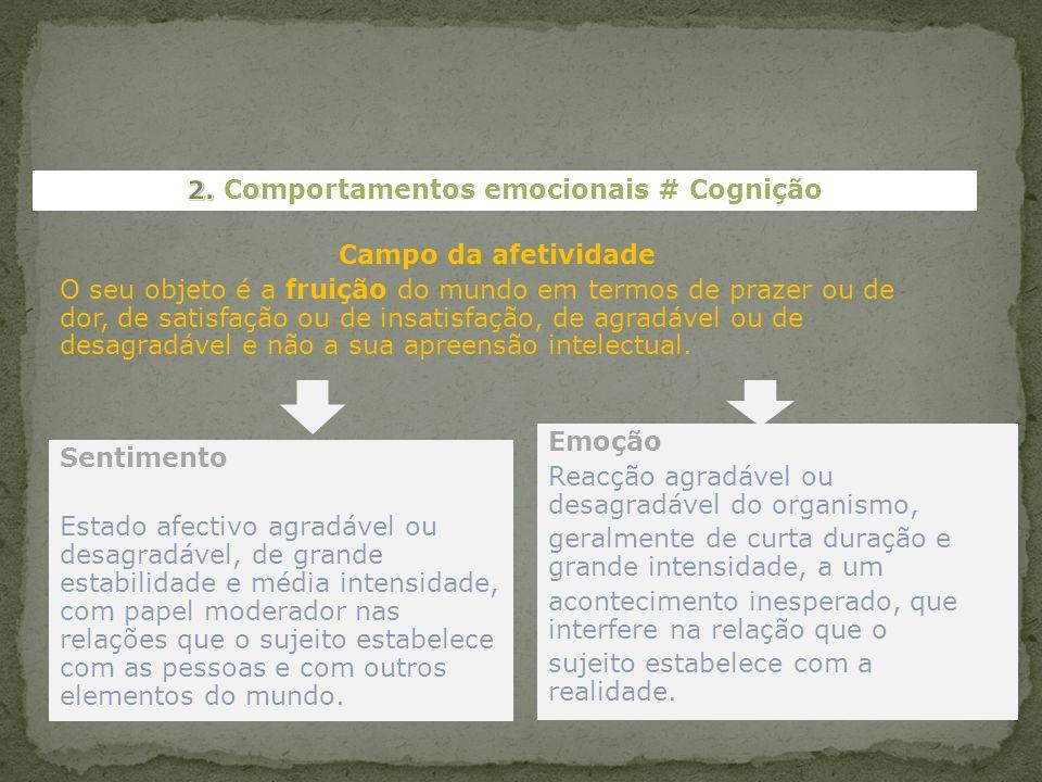2. Comportamentos emocionais # Cognição