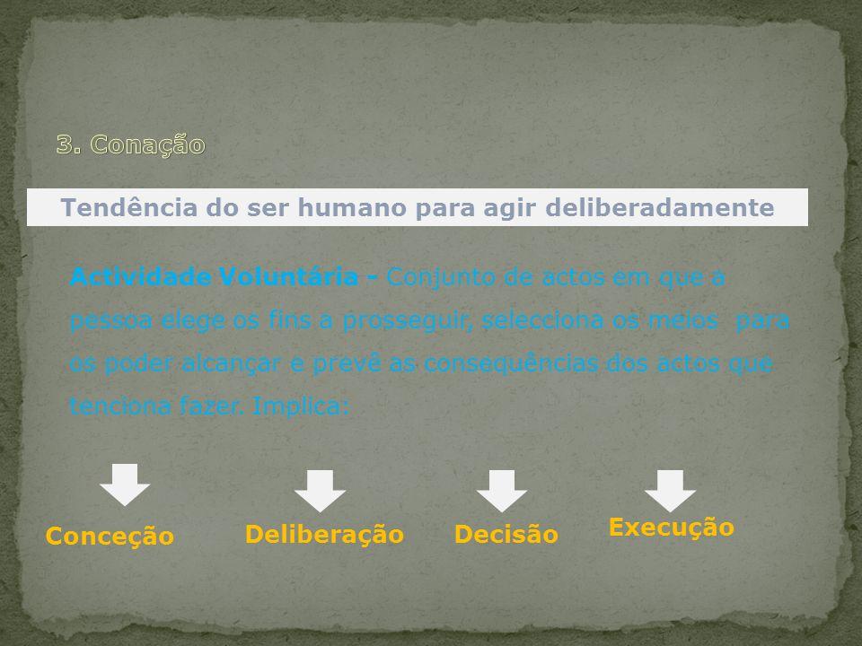 Tendência do ser humano para agir deliberadamente