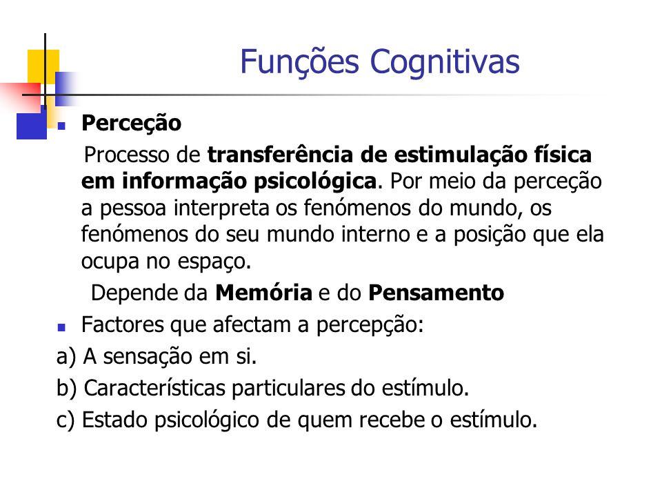 Funções Cognitivas Perceção