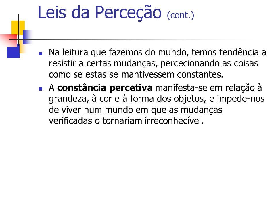 Leis da Perceção (cont.)