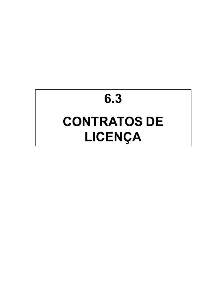 6.3 CONTRATOS DE LICENÇA