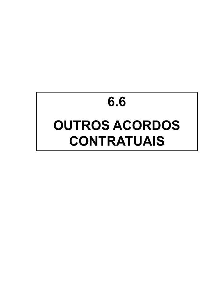 OUTROS ACORDOS CONTRATUAIS
