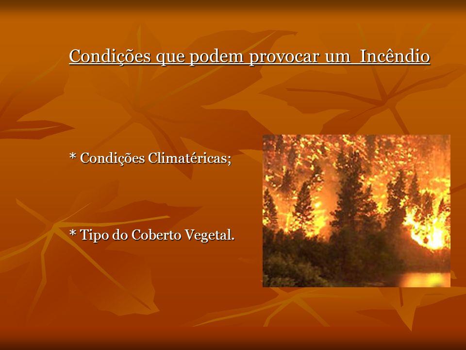 Condições que podem provocar um Incêndio
