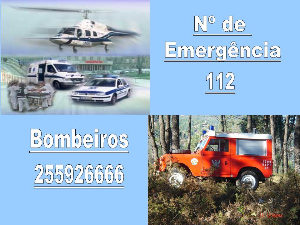 Nº de Emergência 112 Bombeiros 255926666