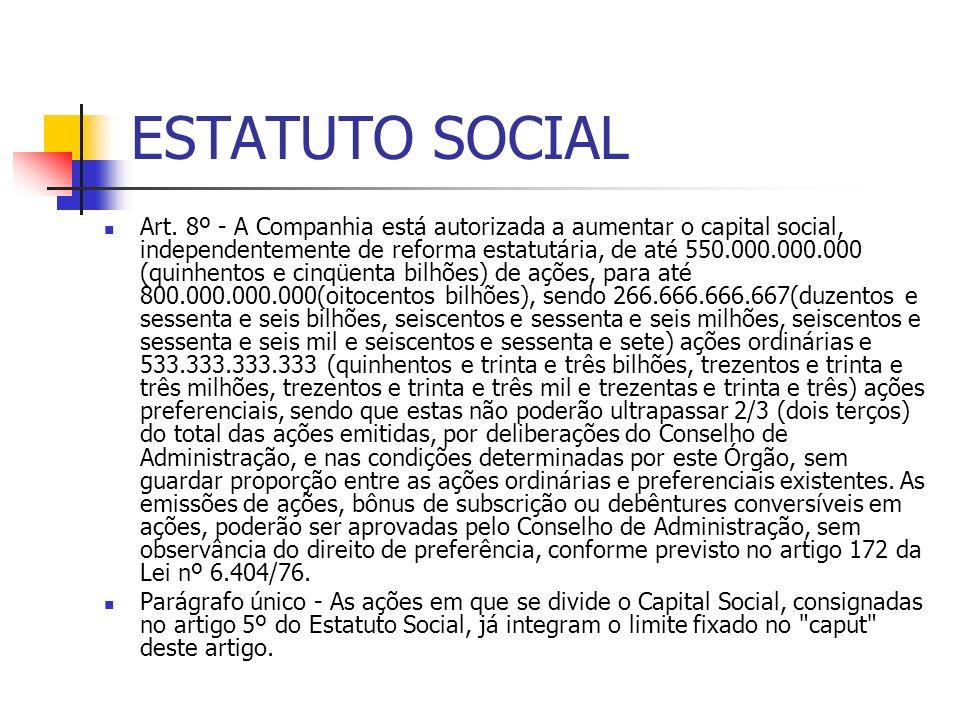 ESTATUTO SOCIAL