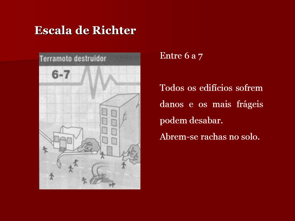 Escala de Richter Entre 6 a 7
