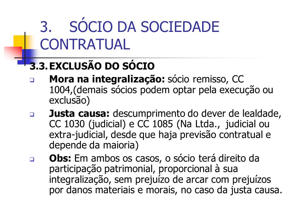 3. SÓCIO DA SOCIEDADE CONTRATUAL
