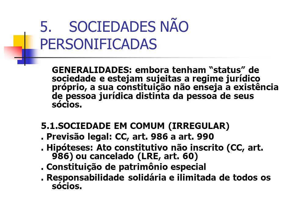 5. SOCIEDADES NÃO PERSONIFICADAS