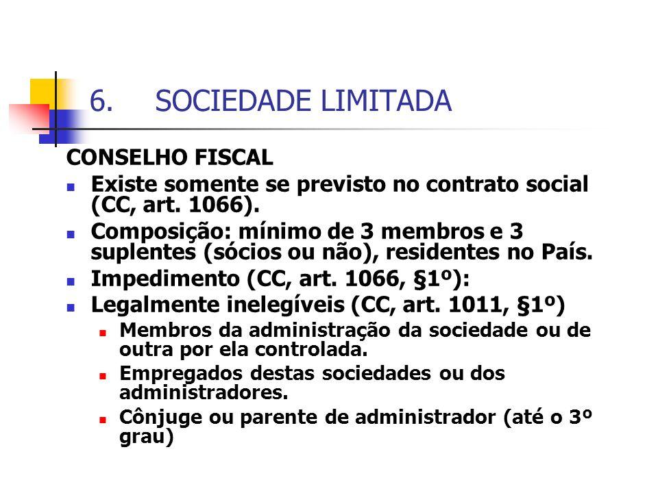 SOCIEDADE LIMITADA CONSELHO FISCAL