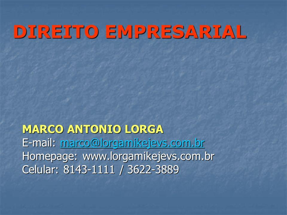 DIREITO EMPRESARIAL MARCO ANTONIO LORGA