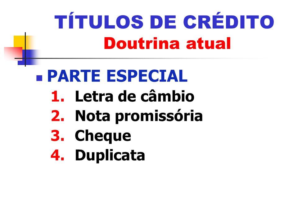 TÍTULOS DE CRÉDITO Doutrina atual