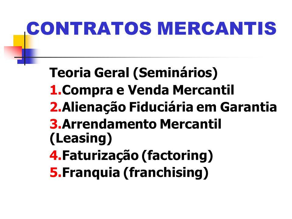 CONTRATOS MERCANTIS Teoria Geral (Seminários) Compra e Venda Mercantil