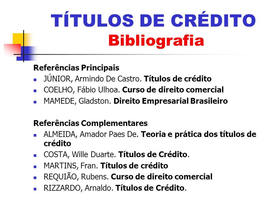 TÍTULOS DE CRÉDITO Bibliografia