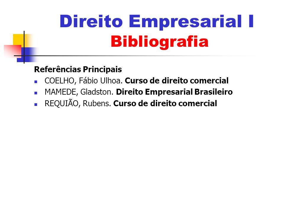 Direito Empresarial I Bibliografia