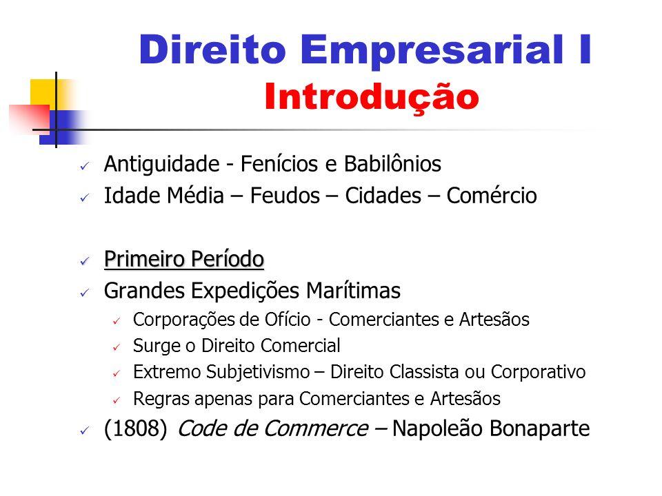 Direito Empresarial I Introdução