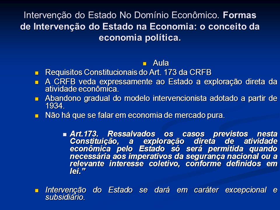 Intervenção do Estado No Domínio Econômico