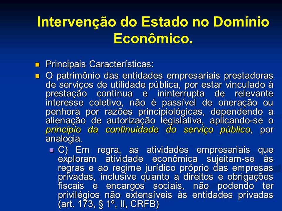 Intervenção do Estado no Domínio Econômico.