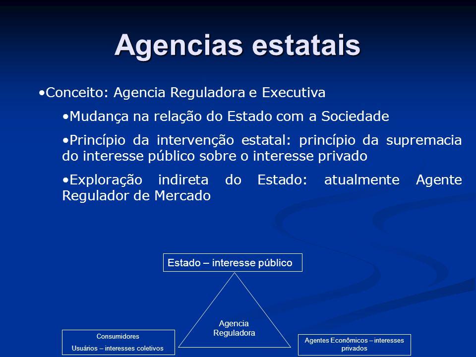 Agencias estatais Conceito: Agencia Reguladora e Executiva