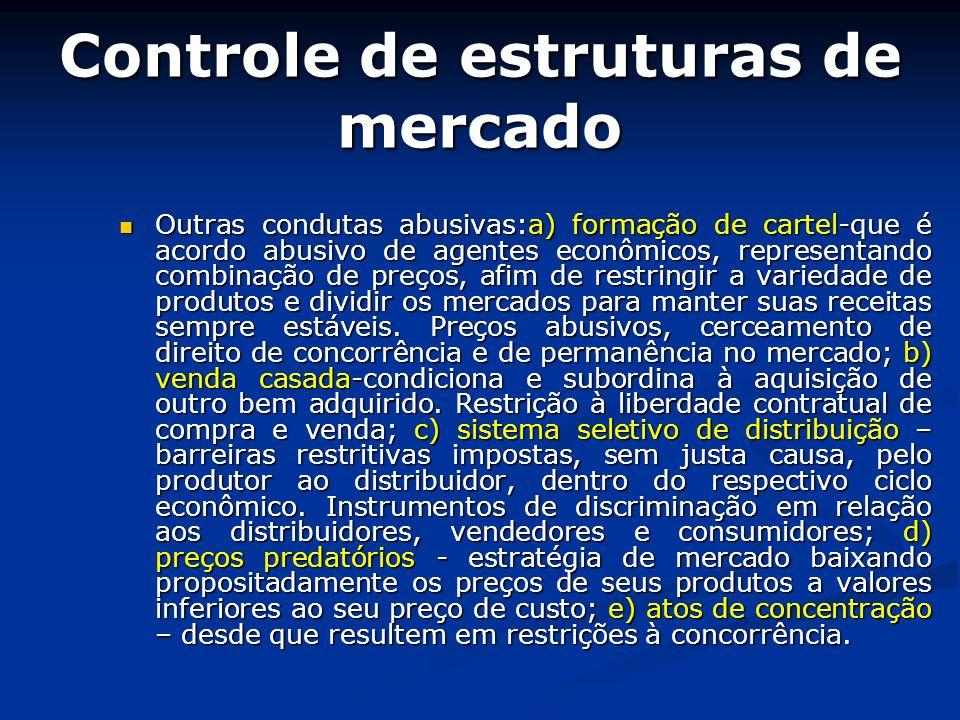 Controle de estruturas de mercado
