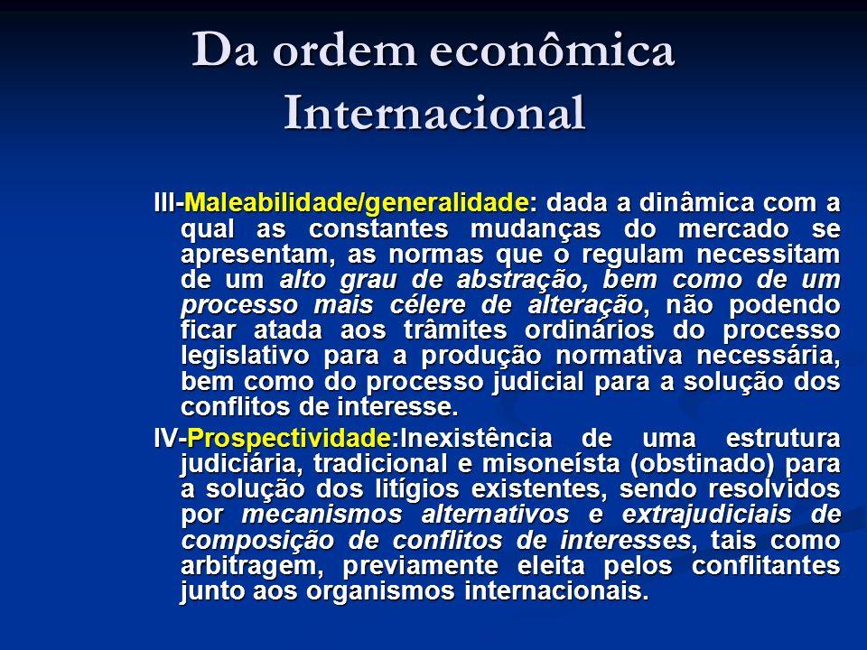 Da ordem econômica Internacional