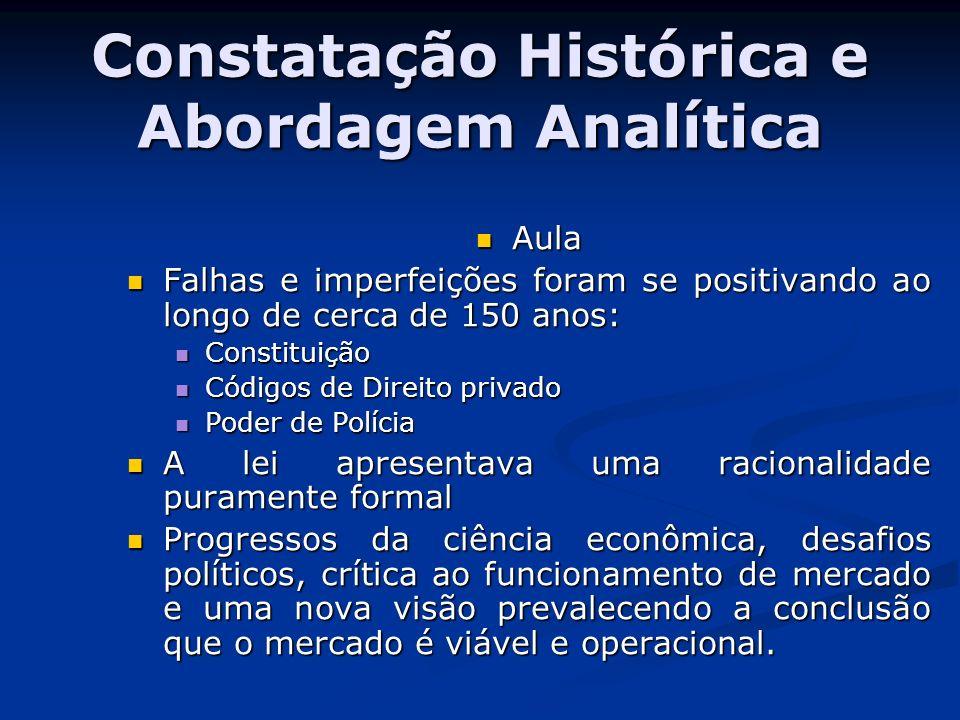 Constatação Histórica e Abordagem Analítica